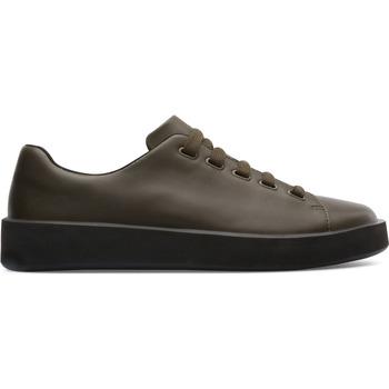 Chaussures Homme Baskets mode Camper Baskets à lacets cuir Courb vert