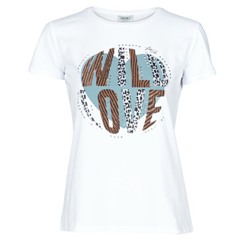 Vêtements Femme T-shirts manches courtes Liu Jo WF0098-J5003 Blanc