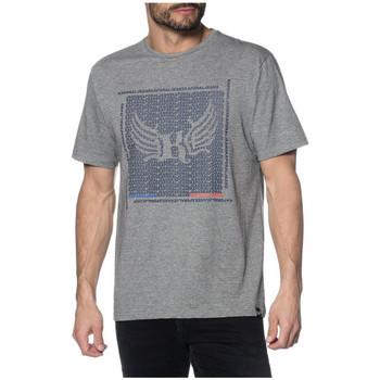 Vêtements Homme T-shirts manches courtes Kaporal T-Shirt Homme Pasto Gris Motifs Bleu Gris
