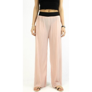 Vêtements Femme Pantalons Kebello Pantalon fluide large F Rose Rose