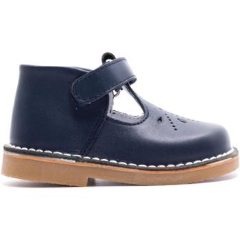 Chaussures Enfant Sandales et Nu-pieds Boni & Sidonie Salomé en Cuir à Scratch - MINI-GEORGE Bleu Marine