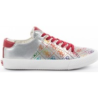 Chaussures Fille Baskets mode Guess multi logo Rouge
