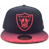 Accessoires textile Homme Casquettes New-Era oakland league raiders 59 fifty Rouge