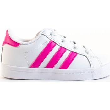 Chaussures Fille Baskets mode adidas Originals coast star el i Blanc