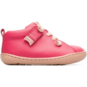 Chaussures Fille Derbies Camper Baskets cuir Peu Cami rose