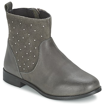 Chaussures Fille Boots Citrouille et Compagnie BANMAL Gris