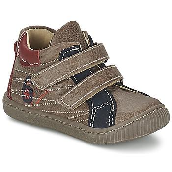 Chaussures Garçon Baskets montantes Citrouille et Compagnie THEO Taupe