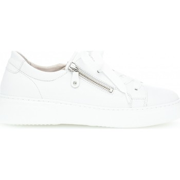 Chaussures Femme Baskets basses Gabor Baskets cuir lisse Blanc
