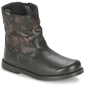 Chaussures Fille Bottes ville Citrouille et Compagnie JOUGRI Noir