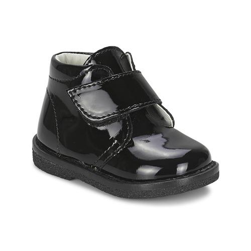 Chaussures Fille Boots Citrouille et Compagnie MERLE Noir