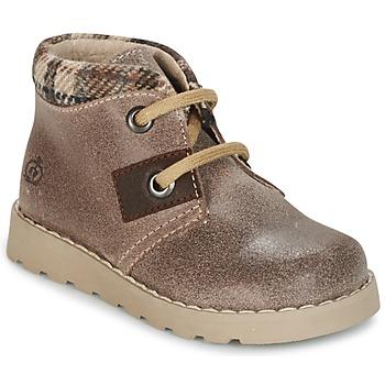 Chaussures Garçon Boots Citrouille et Compagnie ZANZIB Taupe