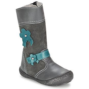 Chaussures Fille Bottes ville Citrouille et Compagnie RINDAR Gris