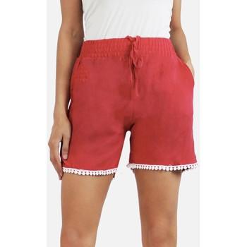 Vêtements Femme Shorts / Bermudas Kebello Short 100% coton Taille : F Rouge S Rouge