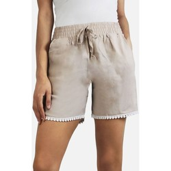 Vêtements Femme Shorts / Bermudas Kebello Short 100% coton Taille : F Beige S Beige
