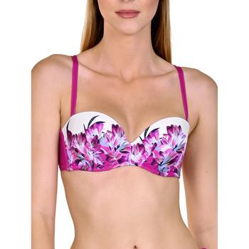 Vêtements Femme Maillots de bain séparables Lisca Haut maillot de bain bandeau balconnet préformé Egina Fuchsia