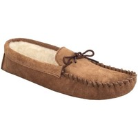 Chaussures Homme Chaussons Mokkers Moccasin Marron clair