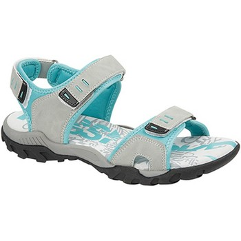 Chaussures Femme Sandales sport Pdq Toggle & Touch Gris/ Vert