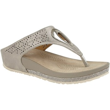 Chaussures Femme Tongs Cipriata  Or