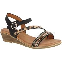 Chaussures Femme Sandales et Nu-pieds Cipriata  Noir/ Léopard