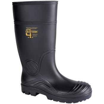 Chaussures Femme Bottes de pluie Grafters  Noir