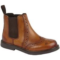 Chaussures Garçon Boots Roamers  Marron