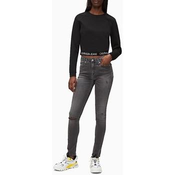 Vêtements Femme Sweats Calvin Klein Jeans milano ls crew neck Noir