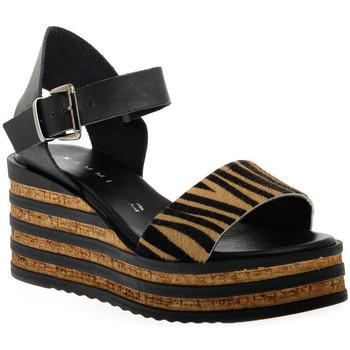 Chaussures Femme Sandales et Nu-pieds Sono Italiana CRAST NERO Nero