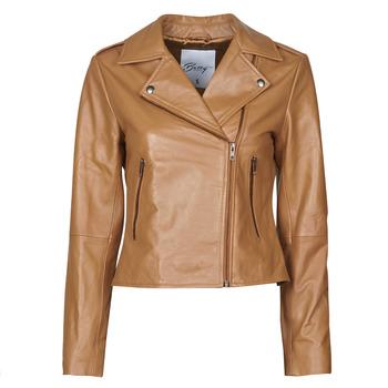 Vêtements Femme Vestes en cuir / synthétiques Betty London NROCK Cognac