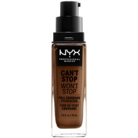 Beauté Femme Fonds de teint & Bases Nyx Can't Stop Won't Stop Full Coverage Foundation cocoa  30 ml
