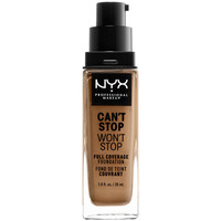 Beauté Femme Fonds de teint & Bases Nyx Can't Stop Won't Stop Full Coverage Foundation caramel 30 ml