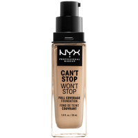 Beauté Femme Fonds de teint & Bases Nyx Can't Stop Won't Stop Full Coverage Foundation buff  30 ml