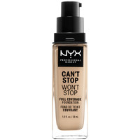 Beauté Femme Fonds de teint & Bases Nyx Can't Stop Won't Stop Full Coverage Foundation nude  30 ml