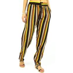 Vêtements Femme Pantalons fluides / Sarouels Kebello Pantalon imprimé fluide, en coton F Jaune Jaune
