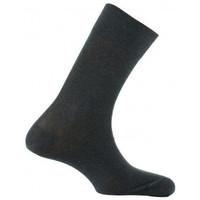 Accessoires Homme Chaussettes Kindy Mi-chaussettes unies en pur fil d'écosse Gris foncé
