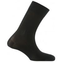 Accessoires Homme Chaussettes Kindy Mi-chaussettes unies en pur fil d'écosse Noir