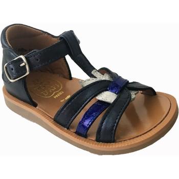 Chaussures Fille Sandales et Nu-pieds Pom d'Api poppy apple marine