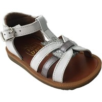 Chaussures Fille Sandales et Nu-pieds Pom d'Api poppy apple blanc