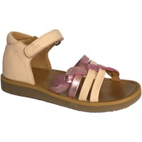 Chaussures Fille Sandales et Nu-pieds Pom d'Api poppy tresse rose