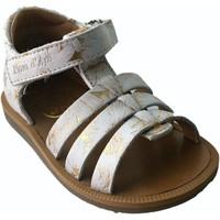 Chaussures Fille Sandales et Nu-pieds Pom d'Api poppy strap or