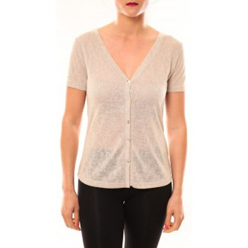 T-shirts manches courtes Meisïe Top 50-608SP14 Beige