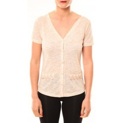 T-shirts manches courtes Meisïe Top 50-608SP15 Beige