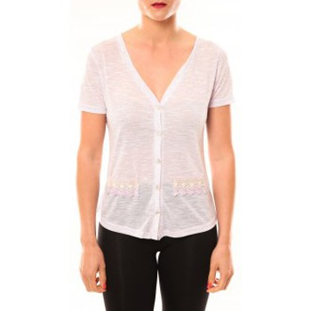 T-shirt Meisïe Top 50-608SP15 Lavande