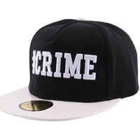 Accessoires textile Homme Casquettes Jbb Couture Snapback  Crime Noire et Blanche Noir