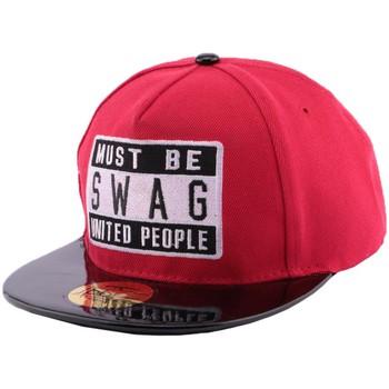 Accessoires textile Homme Casquettes Hip Hop Honour Snapback JBB Couture Must Swag Rouge enfant de 10 ans à 16 ans Rouge