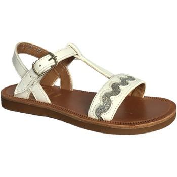 Chaussures Fille Sandales et Nu-pieds Pom d'Api plagette croquet blanc