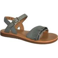 Chaussures Fille Sandales et Nu-pieds Pom d'Api plagette fringes jeans