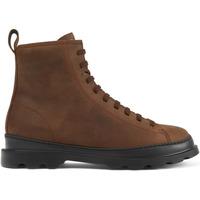 Chaussures Homme Bottes ville Camper Bottines à lacets cuir Brutus marron