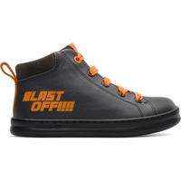 Chaussures Garçon Boots Camper Basket cuir RUNNER FOUR gris