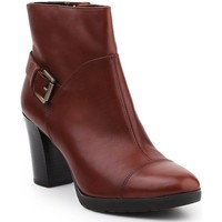 Chaussures Femme Boots Geox D Raphal MID A D643WA-00043-C0013 brązowy