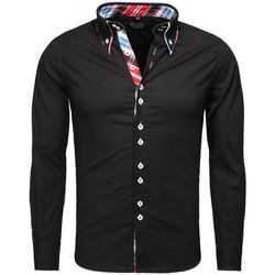 Vêtements Homme Chemises manches longues Carisma Chemise fashion homme Chemise C-110 noir Noir